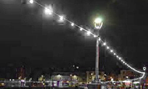 Festoon Lights on a Sea Front