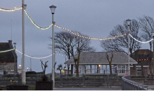 Festoon Lights on a Sea Front
