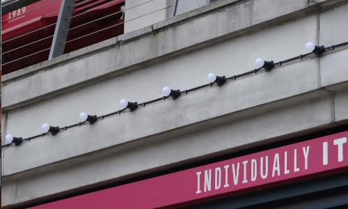 Festoon Lights on a Shop Front