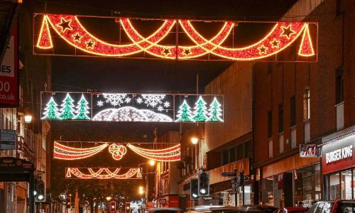 Cross street light display